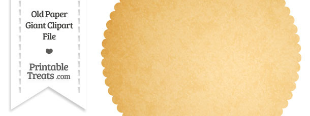 Old Paper Giant Circle with Scalloped Edges Clipart