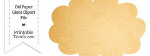 Old Paper Giant Cloud Clipart