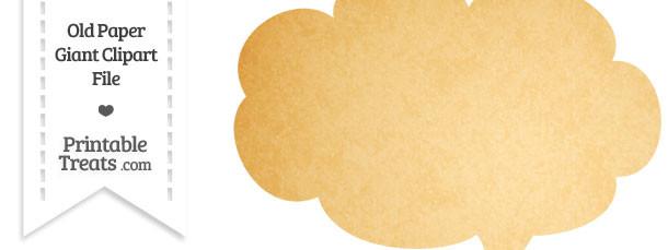 Old Paper Giant Cloud Talk Bubble Clipart