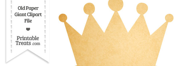 Old Paper Giant Crown Clipart