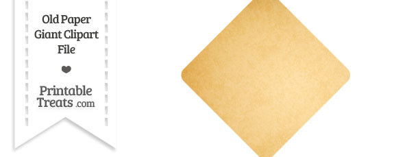 Old Paper Giant Diamond Card Symbol Clipart