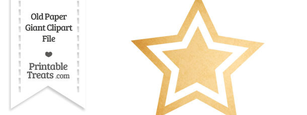 Old Paper Giant Double Star Clipart
