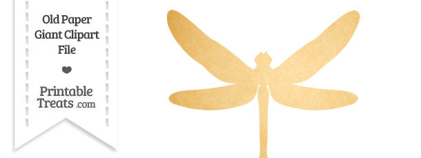 Old Paper Giant Dragonfly Clipart