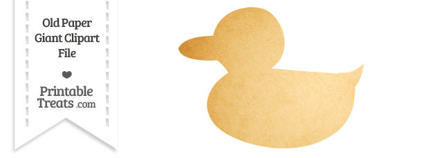 Old Paper Giant Duckling Clipart