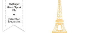 Old Paper Giant Eiffel Tower Clipart