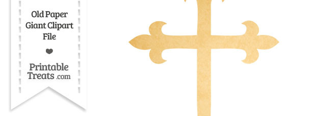Old Paper Giant Fancy Cross Clipart