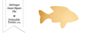 Old Paper Giant Fish Clipart
