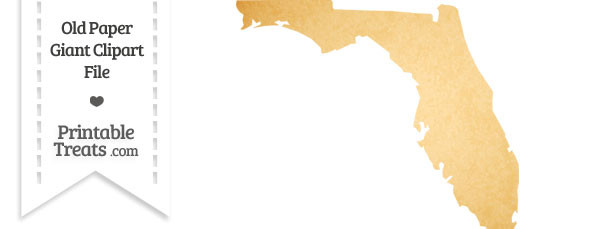 Old Paper Giant Florida State Clipart