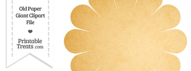Old Paper Giant Flower Clipart