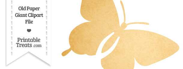 Old Paper Giant Flying Butterfly Clipart