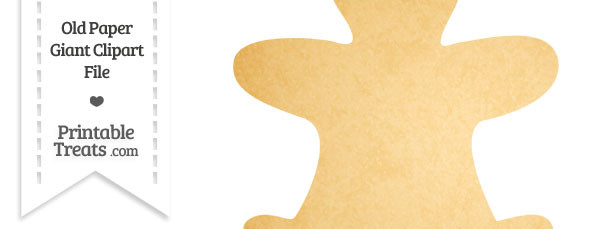 Old Paper Giant Gingerbread Man Clipart