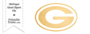 Old Paper Giant Green Bay Packers Logo Clipart