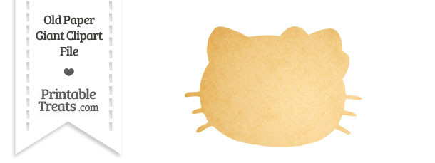 Old Paper Giant Hello Kitty Head Clipart