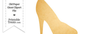 Old Paper Giant High Heel Clipart