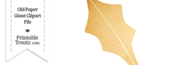 Old Paper Giant Holly Leaf Clipart