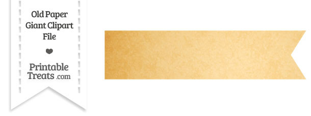 Old Paper Giant Horizontal Ribbon Clipart
