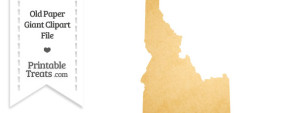 Old Paper Giant Idaho State Clipart