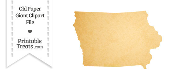 Old Paper Giant Iowa State Clipart