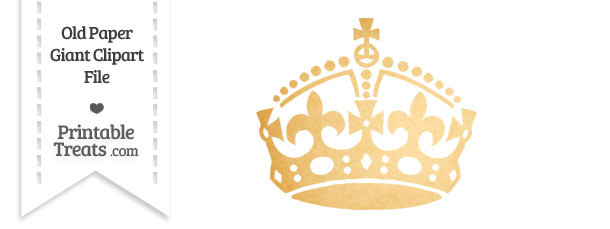 Old Paper Giant Keep Calm Crown Clipart