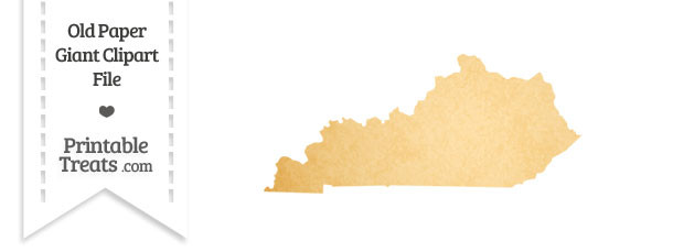 Old Paper Giant Kentucky State Clipart