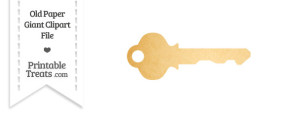 Old Paper Giant Key Clipart