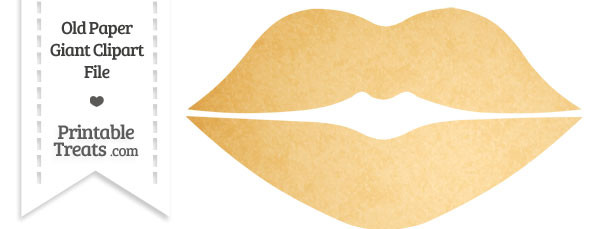 Old Paper Giant Lips Clipart