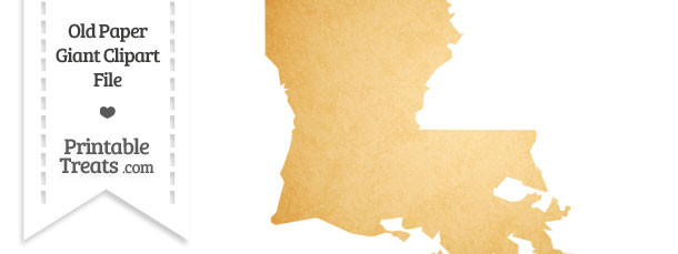 Old Paper Giant Louisiana State Clipart