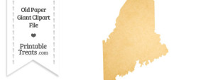 Old Paper Giant Maine State Clipart
