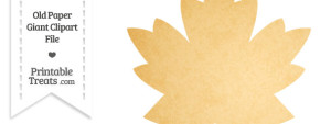 Old Paper Giant Maple Leaf Clipart