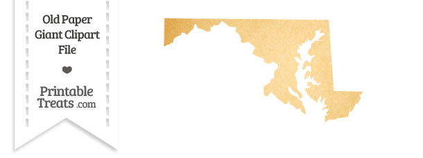 Old Paper Giant Maryland State Clipart