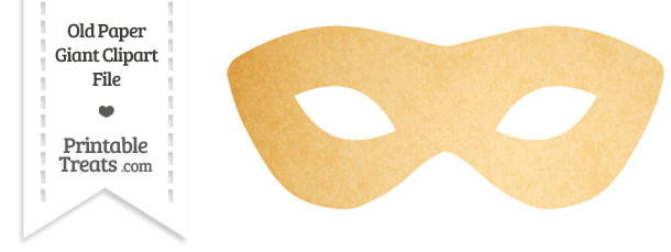 Old Paper Giant Masquerade Mask Clipart