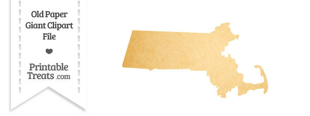 Old Paper Giant Massachusetts State Clipart