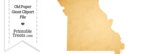 Old Paper Giant Missouri State Clipart
