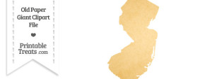 Old Paper Giant New Jersey State Clipart