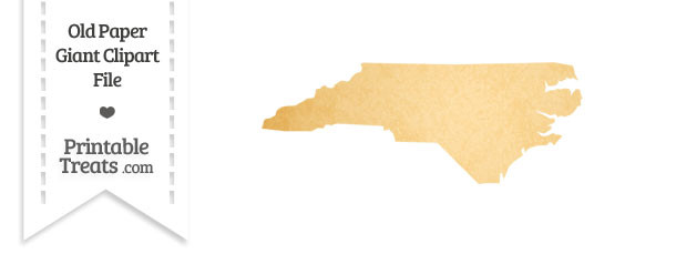 Old Paper Giant North Carolina State Clipart