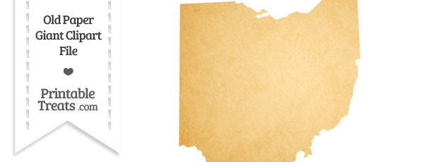 Old Paper Giant Ohio State Clipart