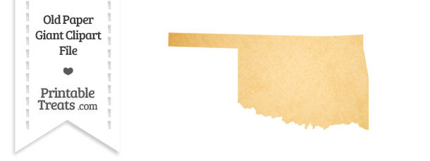Old Paper Giant Oklahoma State Clipart