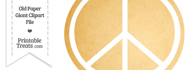 Old Paper Giant Peace Sign Clipart