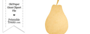 Old Paper Giant Pear Clipart