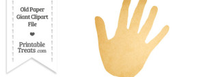 Old Paper Giant Right Hand Clipart