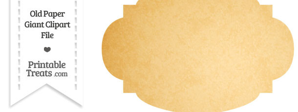 Old Paper Giant Rounded Label Clipart