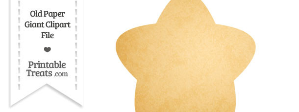 Old Paper Giant Rounded Star Clipart