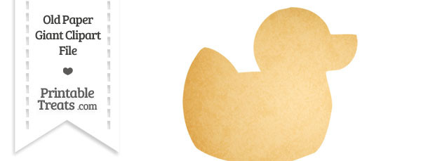 Old Paper Giant Rubber Ducky Clipart