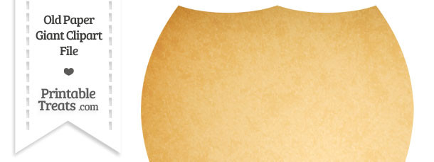 Old Paper Giant Shield Clipart