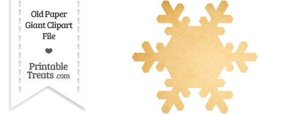 Old Paper Giant Snowflake Clipart