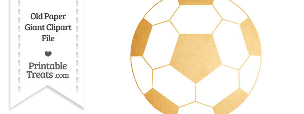 Old Paper Giant Soccer Ball Clipart