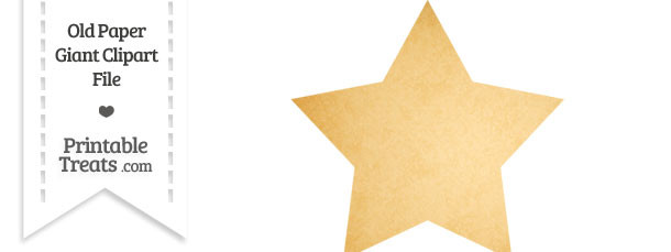 Old Paper Star Clipart