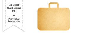 Old Paper Giant Suitcase Clipart