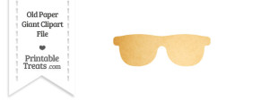 Old Paper Giant Sunglasses Clipart
