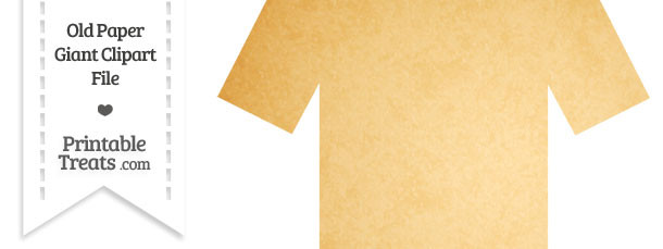 Old Paper Giant Tshirt Clipart